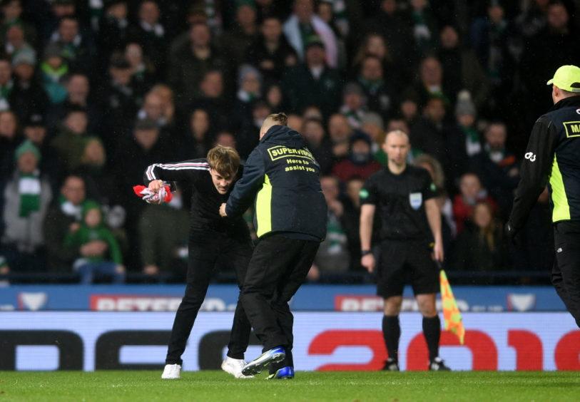 Gavin Elpinstone on the pitch