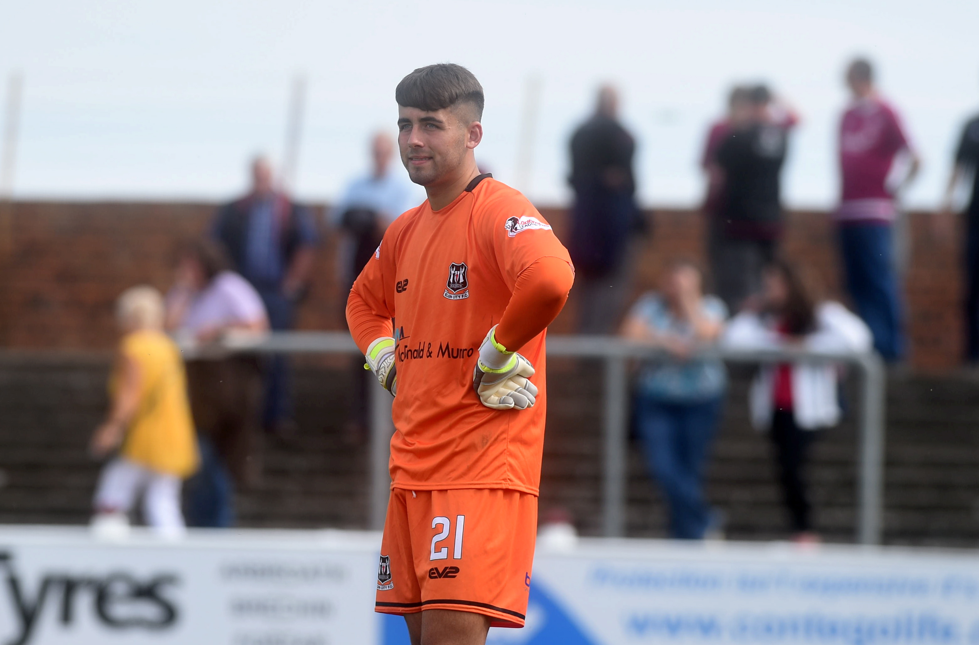 Betfred Cup Arbroath v Elgin City Gayfield Park, Arbroath Pictured is Elgin goalkeeper Kyle Gourlay Picture by DARRELL BENNS     Pictured on 21/07/2018