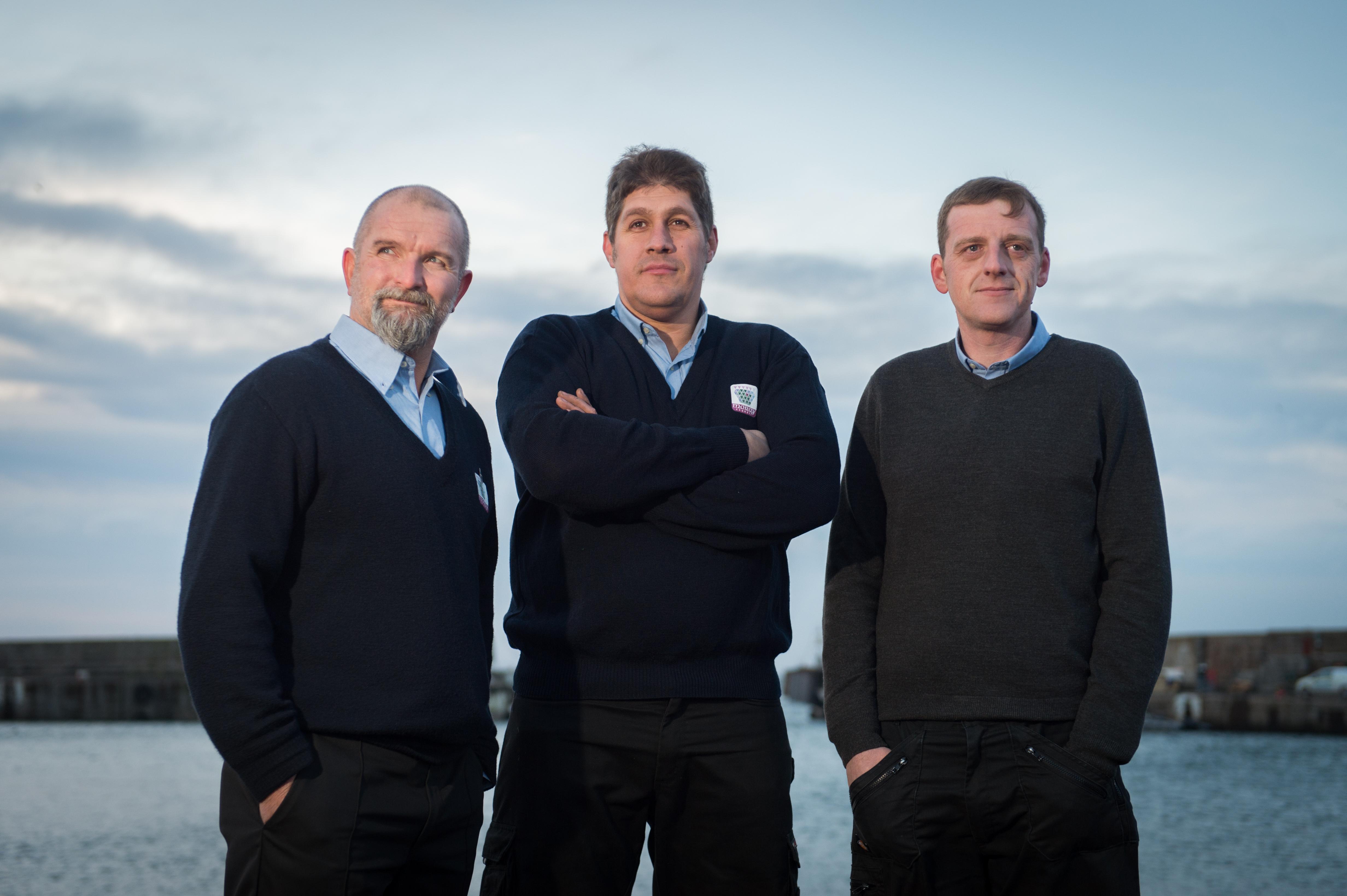L2R: Simon Forest, Mike Soper and Darren Bremner