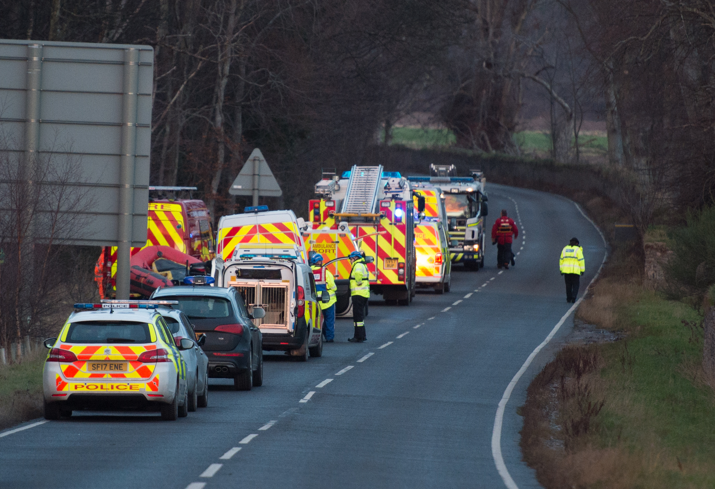 Reports of someone in difficulty sparked a large emergency response.
