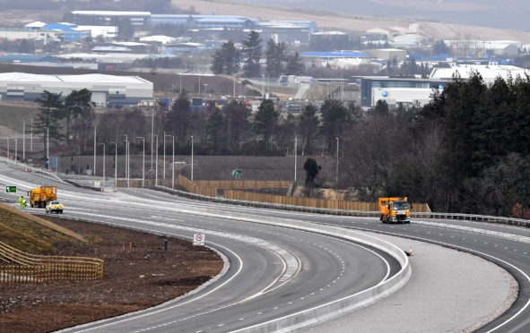The Aberdeen bypass near Craibstone.
