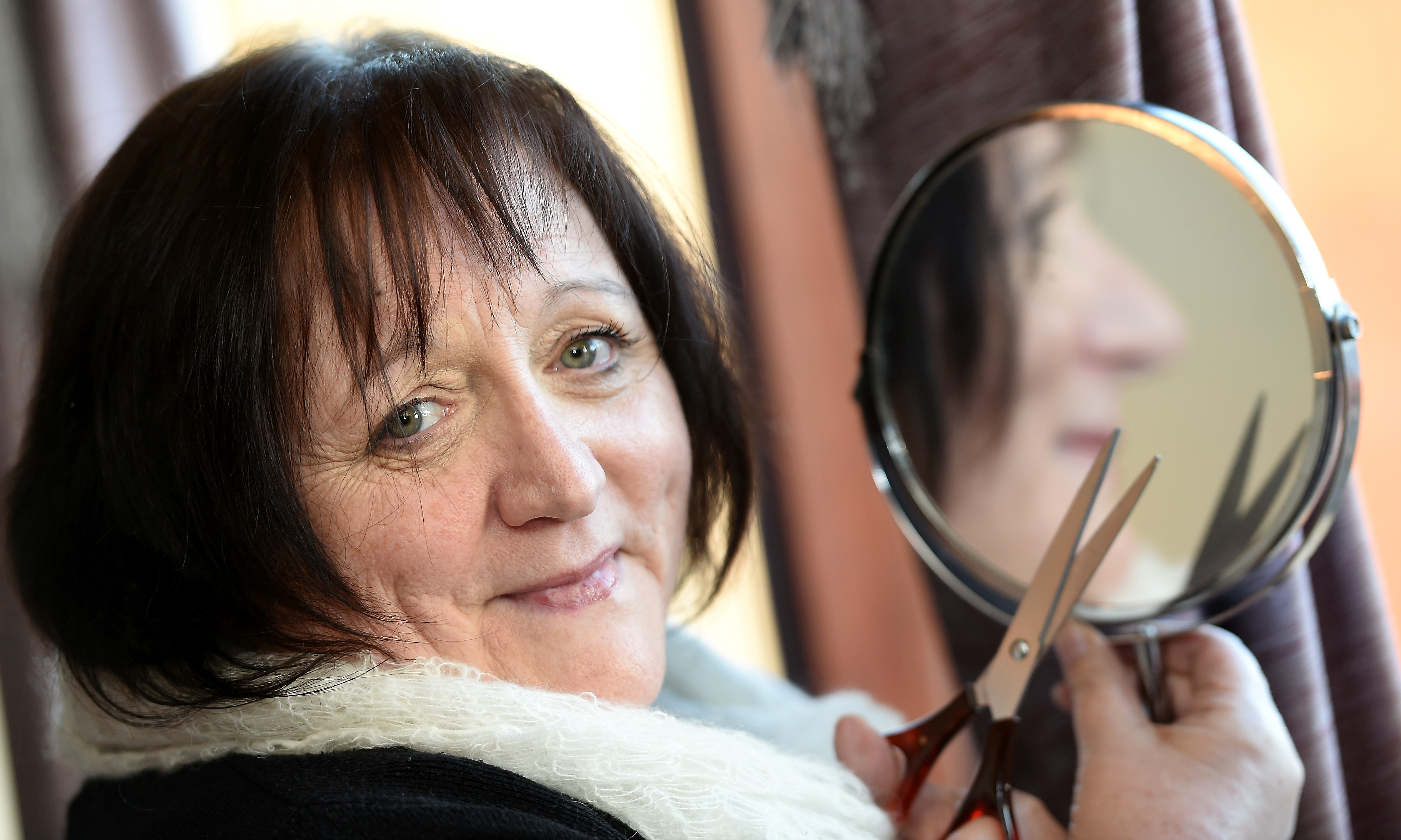 Audrey McKay is to Brave the Shave in aid of her cancer stricken friend. Picture by Sandy McCook