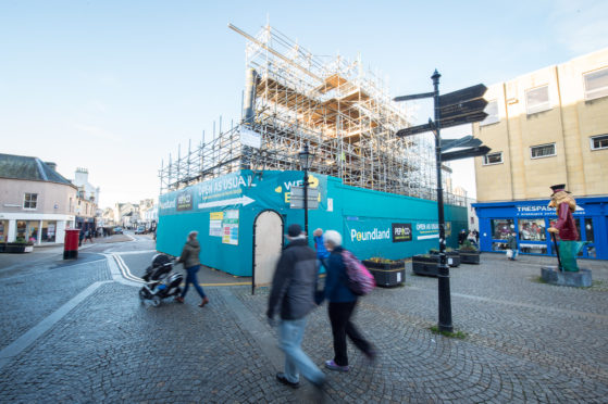 Repairs to the Poundland building are expected to continue until 2020.