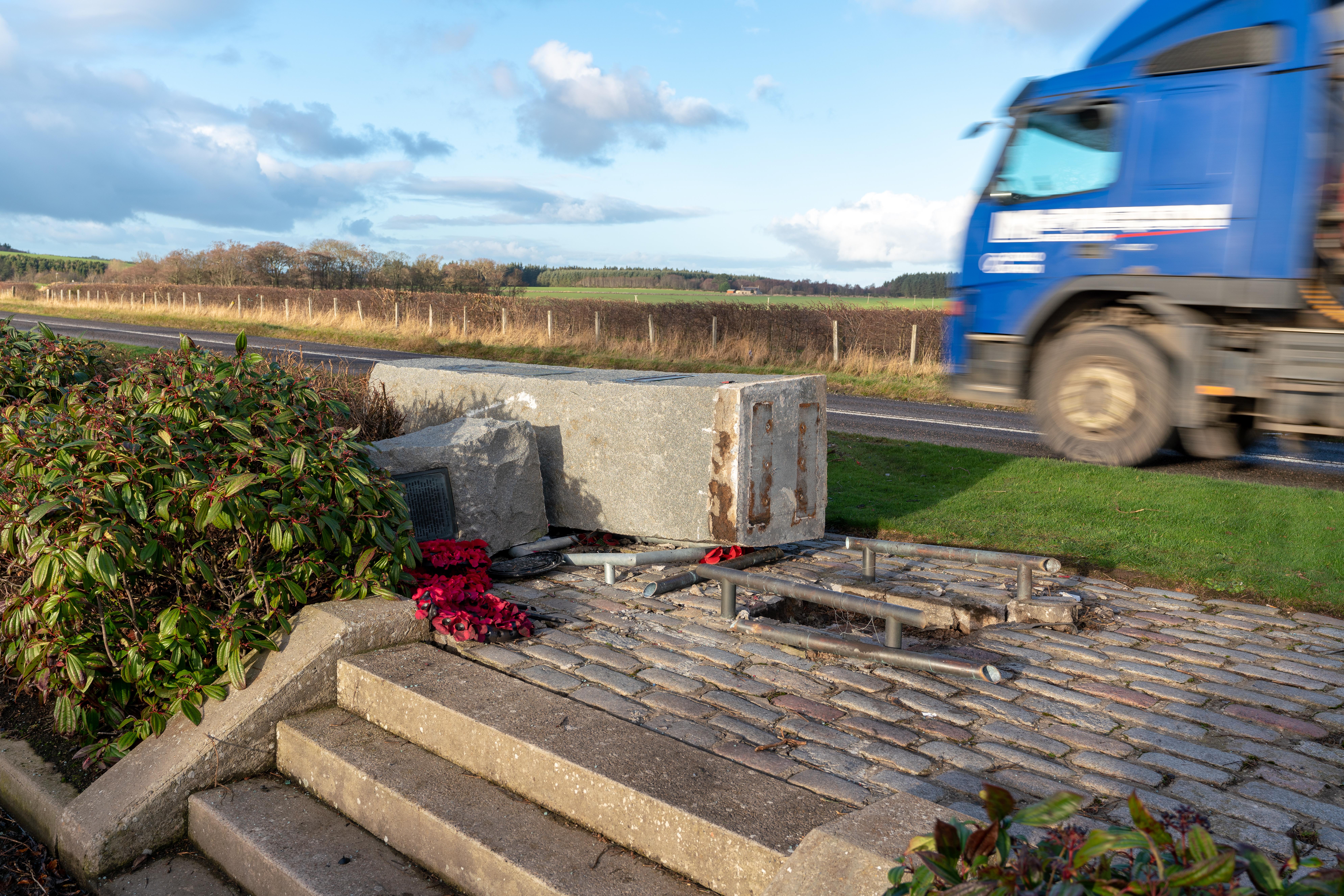 The RAF Banff Strike Wing Memorial at Boyndie.