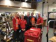 Richard Lochhead with Royal Mail employees in Elgin