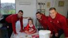 Aberdeen FC stars visited the Royal Aberdeen Children's Hospital.
