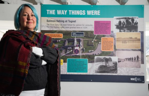New information boards have been unveiled at the Scottish Dolphin Centre at Spey Bay. Pictured: SDC officer Lisa Farley.