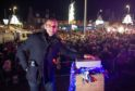 Actor James Wooton, better known as Sam Dingle in Emmerdale, spent the day meeting fans in Buckie before switching on the Christmas lights.