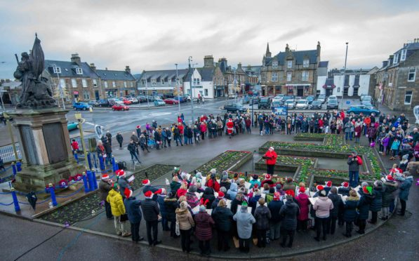 The event was the first of its kind organised by Buckie and District Community Choir.