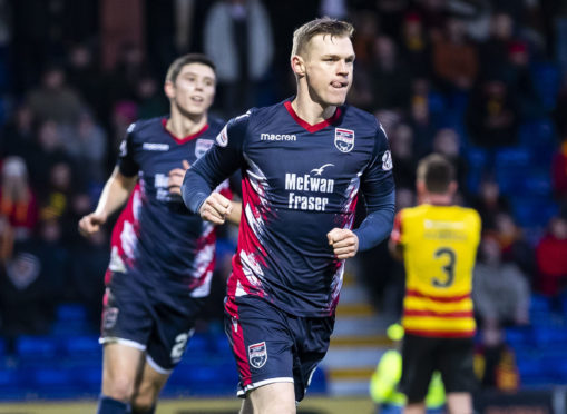 Ross County striker Billy Mckay.