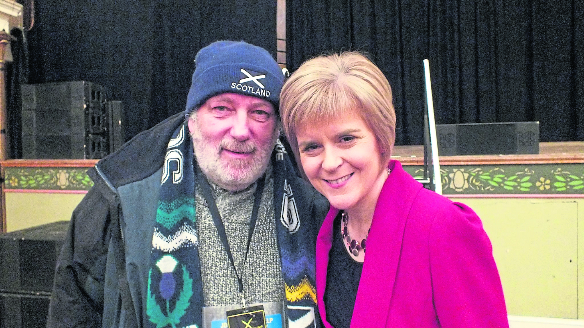 Former fisherman Brian Gillies meeting First Minister Nicola Sturgeon before his crimes came to light.