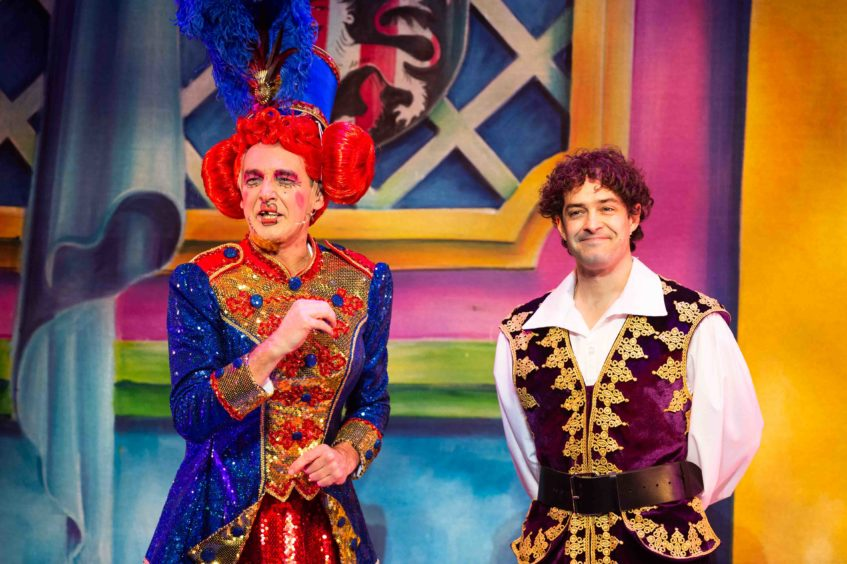 Alan McHugh and Lee Mead playing it for laughs in 2018.