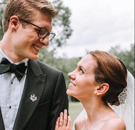 Jon Pfeil and his wife, Anna Gallagher.