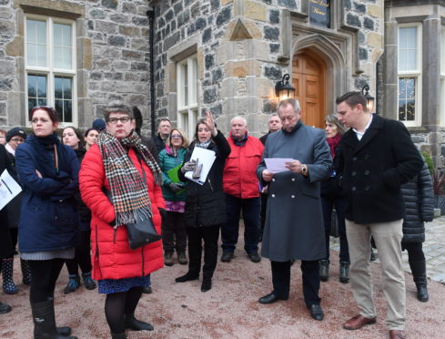 Aberdeenshire councillors visit the Menie Estate last year