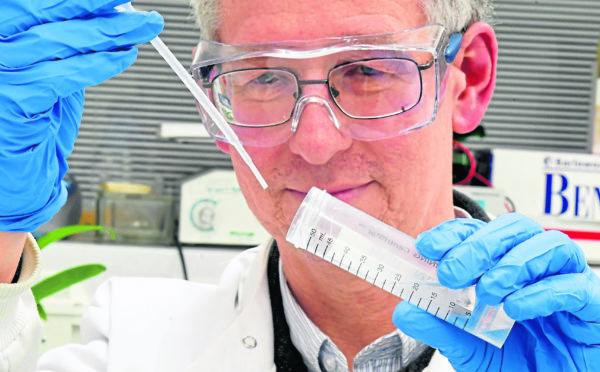 Professor Peter McCaffery at the Institute of Medical Sciences.
