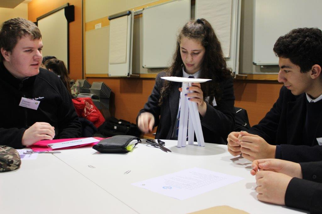 Pupils working on their project