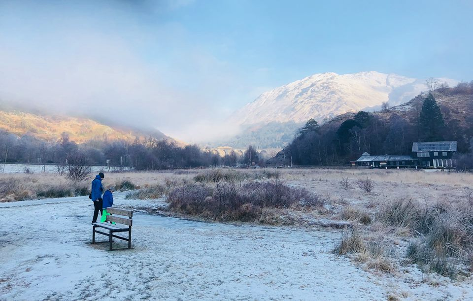 Winter at Glenfinnan.