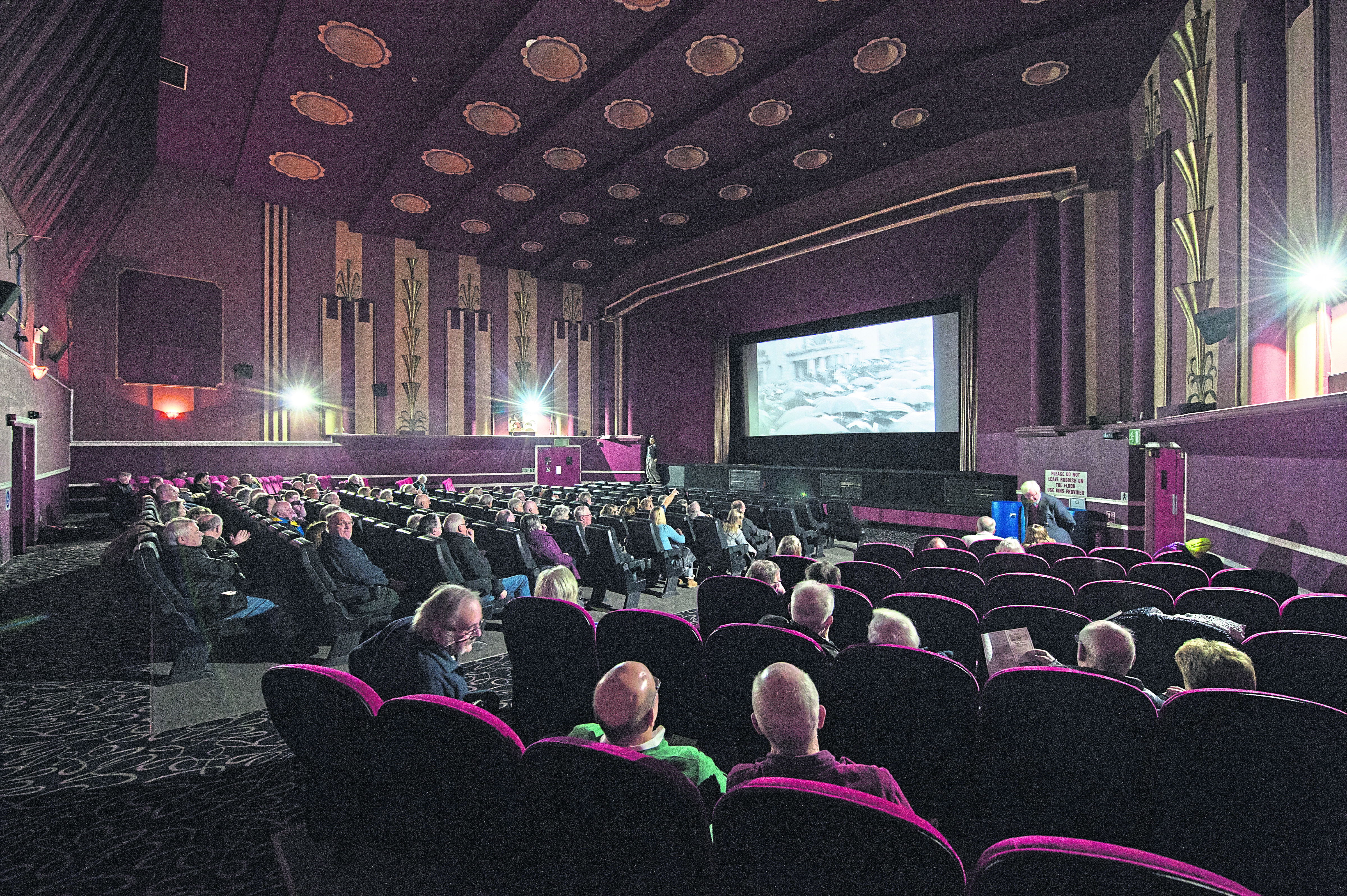Moray locals watch footage from the past at the Playhouse in Elgin