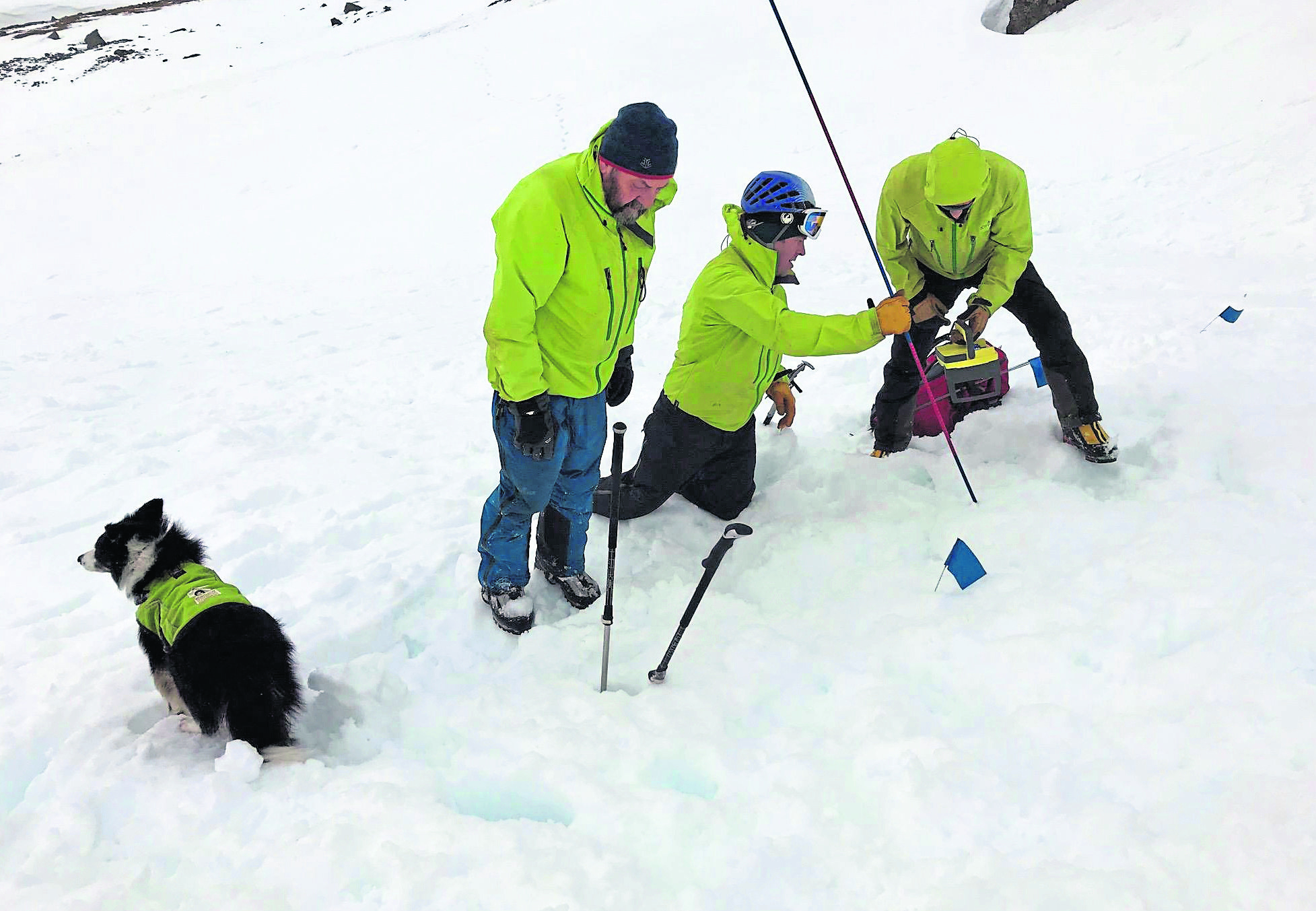 The Lochaber Mountain rescue team during the search for the missing climber on Ben Nevis.