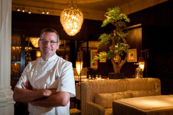 Andrew Fairlie in his restaurant at Gleneagles.