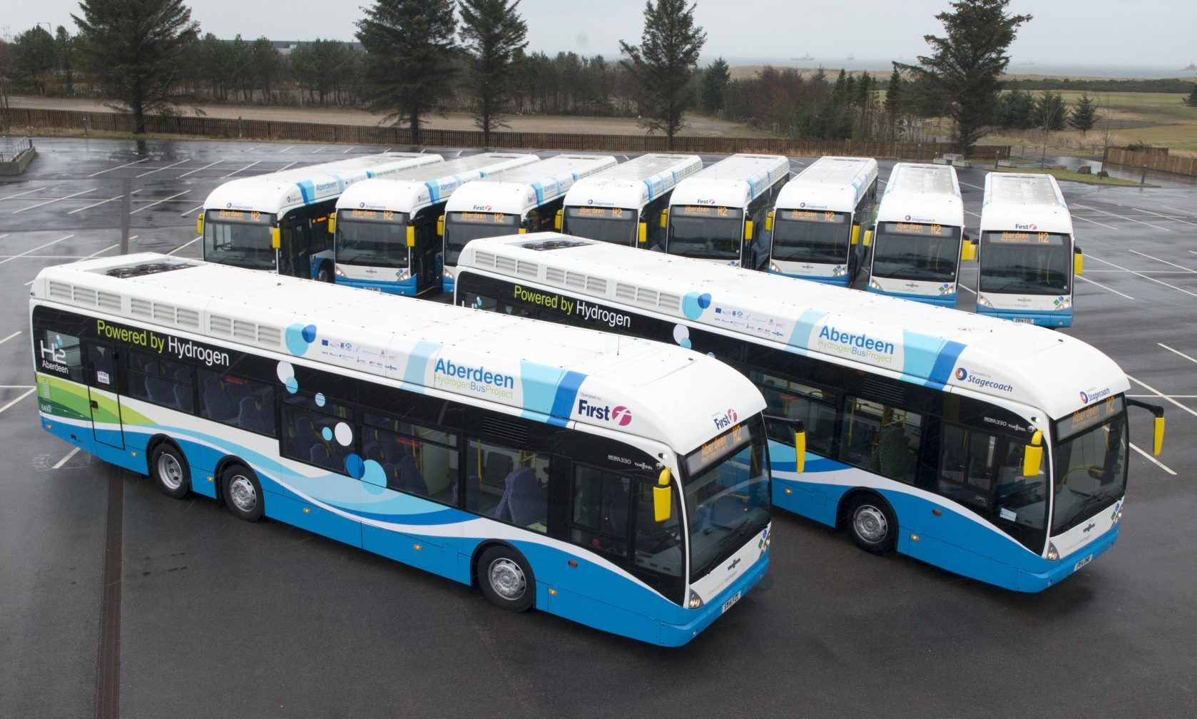 The city's hydrogen buses