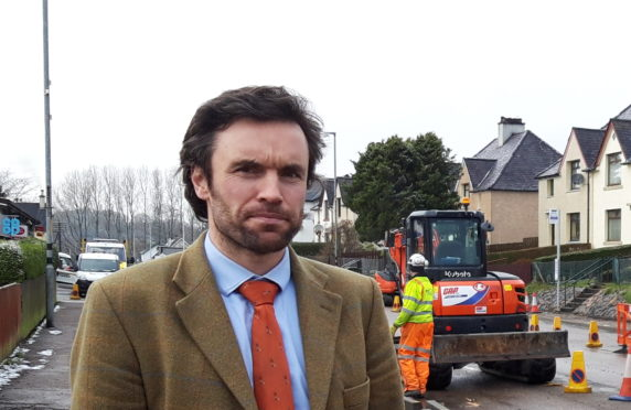 Councillor Ben Thomson praises the hard work and determination of the community in improving the safety of pedestrians in the village of Corpach.