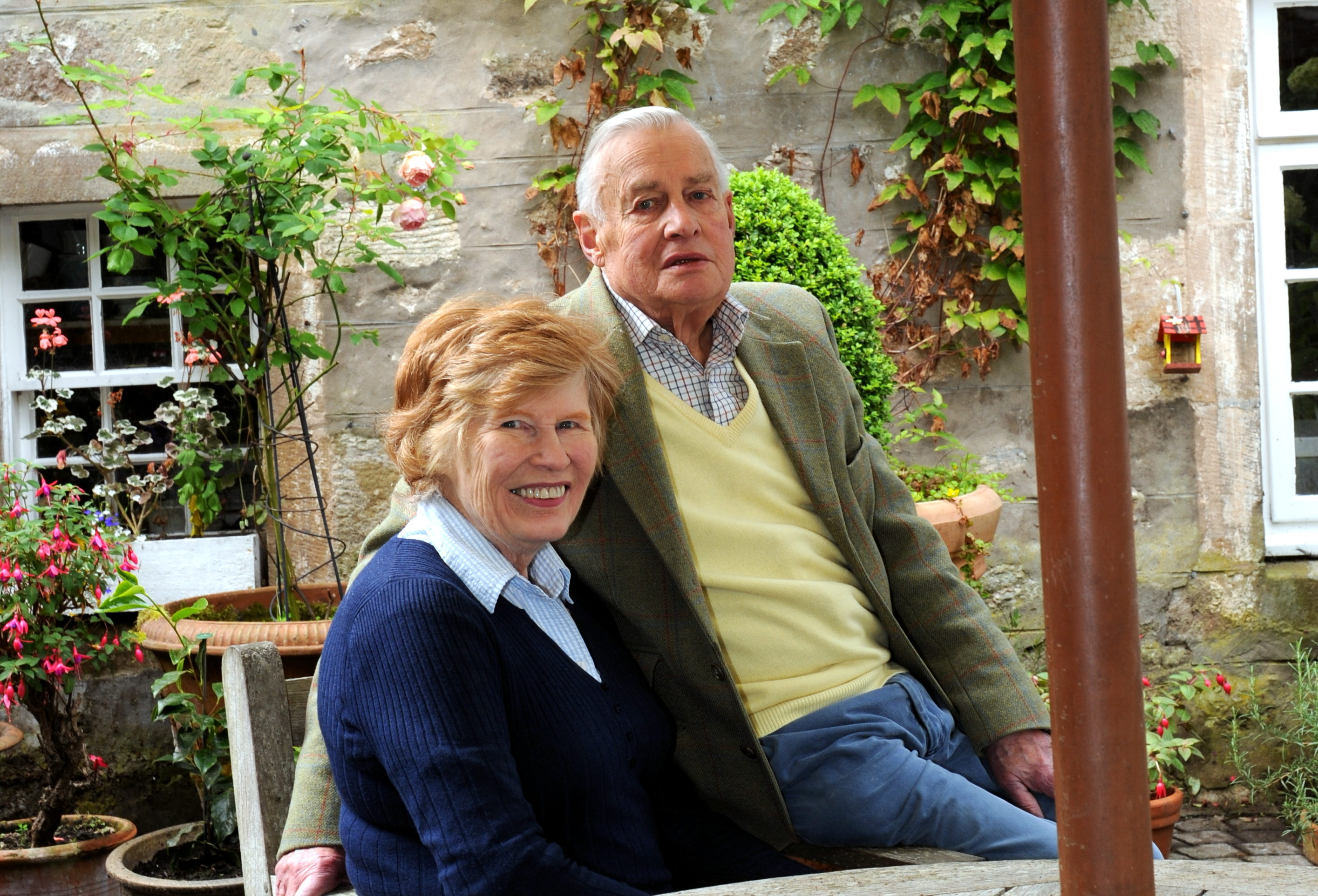 Kirsteen and Hugh Mitcalfe at their home in Milton of Brodie in 2011.