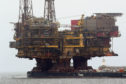 The Brent Delta platform being sent for decommissioning last year.