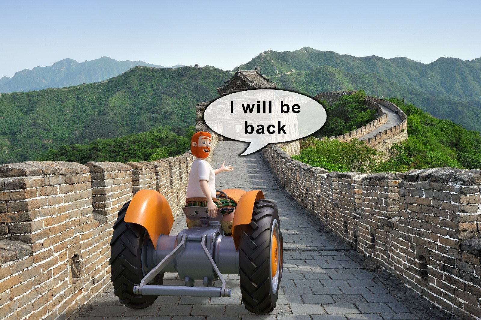 Donald on his China adventure