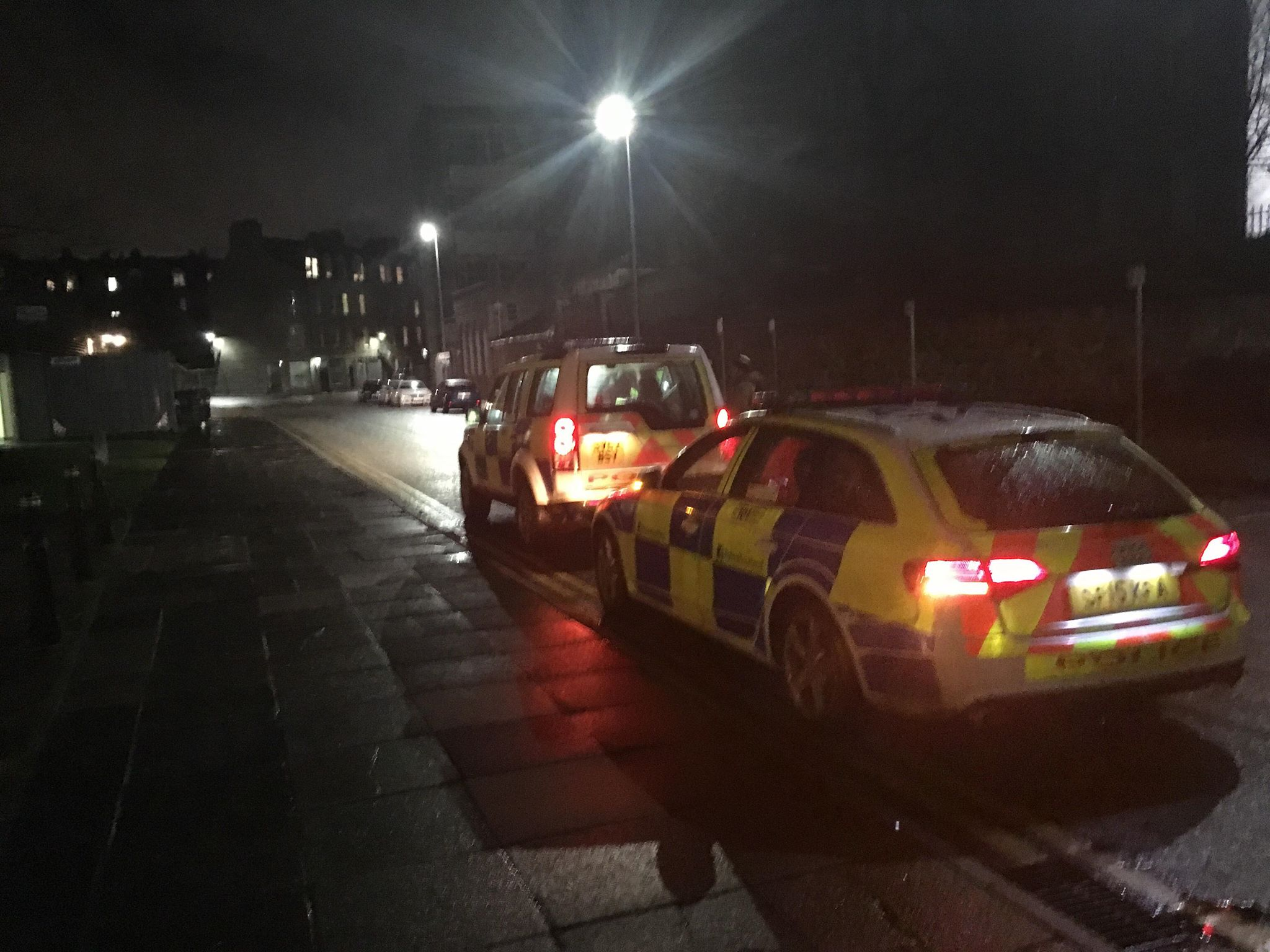 Police on the scene after a boy was struck by a car in Aberdeen