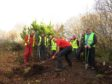Volunteers of the Skye Cycle Way group during one of the communities clean up days along the route