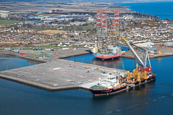 Seaway Heavy Lifting's crane vessel, the Stanislav Yudin, to the Port of Cromarty Firth marks the start of the Beatrice Offshore Windfarm Project