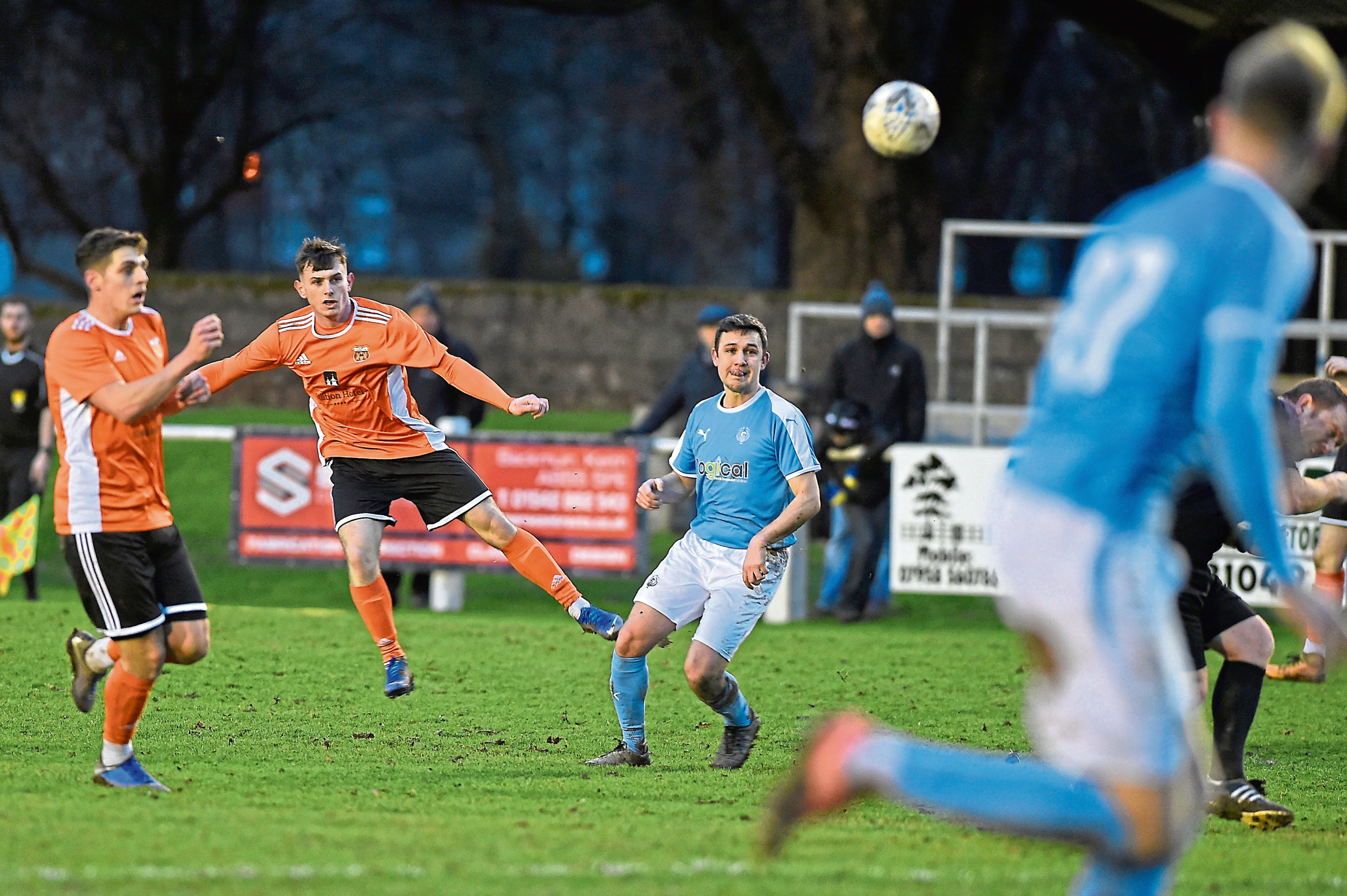 Ali Sutherland was on loan at Rothes.