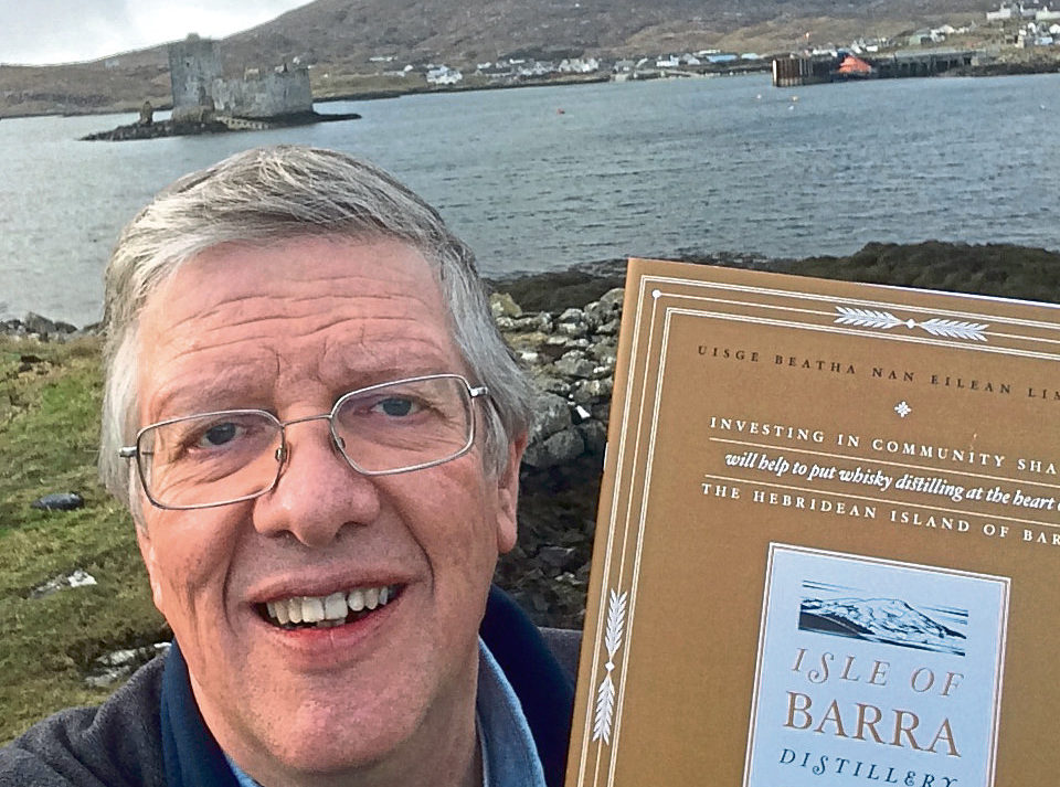 Taste for a venture: Peter Brown is behind the planned Barra Distillery