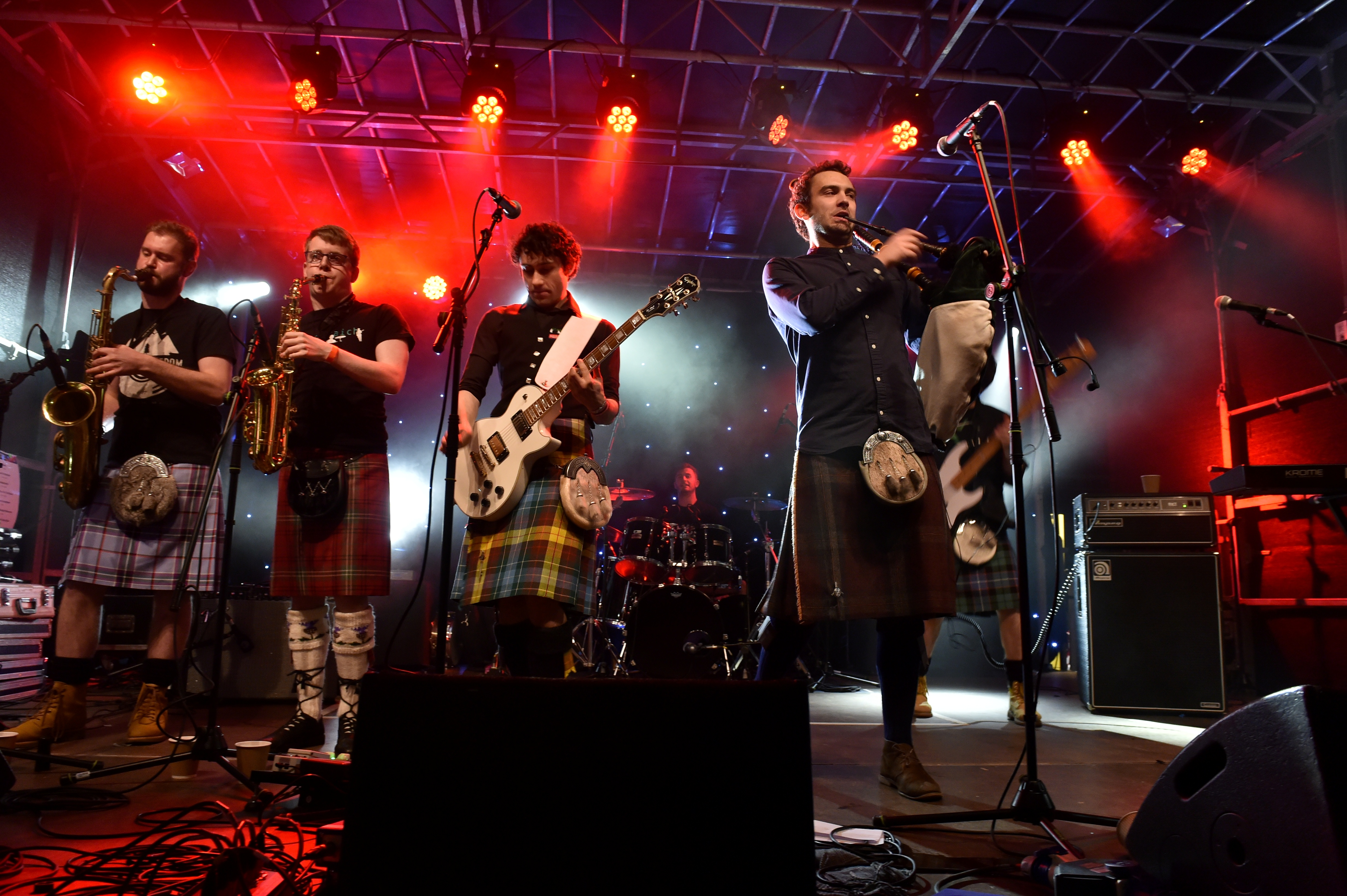 Celtic rock band Gleadhraich played a barnstorming set on the Schoolhill stage