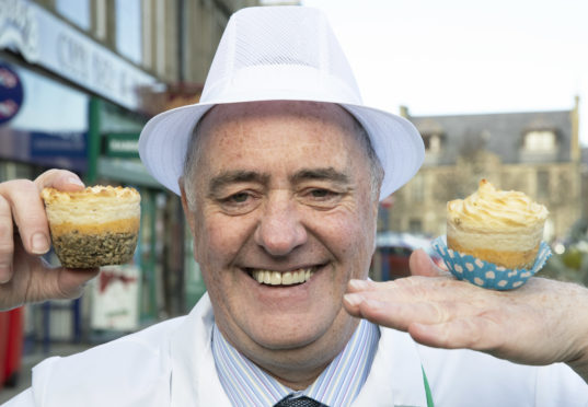 Scottish Craft Butchers Awards: Bruce of the Broch, Fraserburgh Alistair Bruce pictured with his Haggis Cupcakes Picture by Graeme Hart. Copyright Perthshire Picture Agency