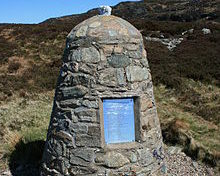The memorial to the 29 victims of the 1994 RAF Chinook helicopter disaster.