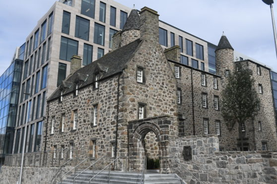 Provost Skene House in the shadow of Marischal Square