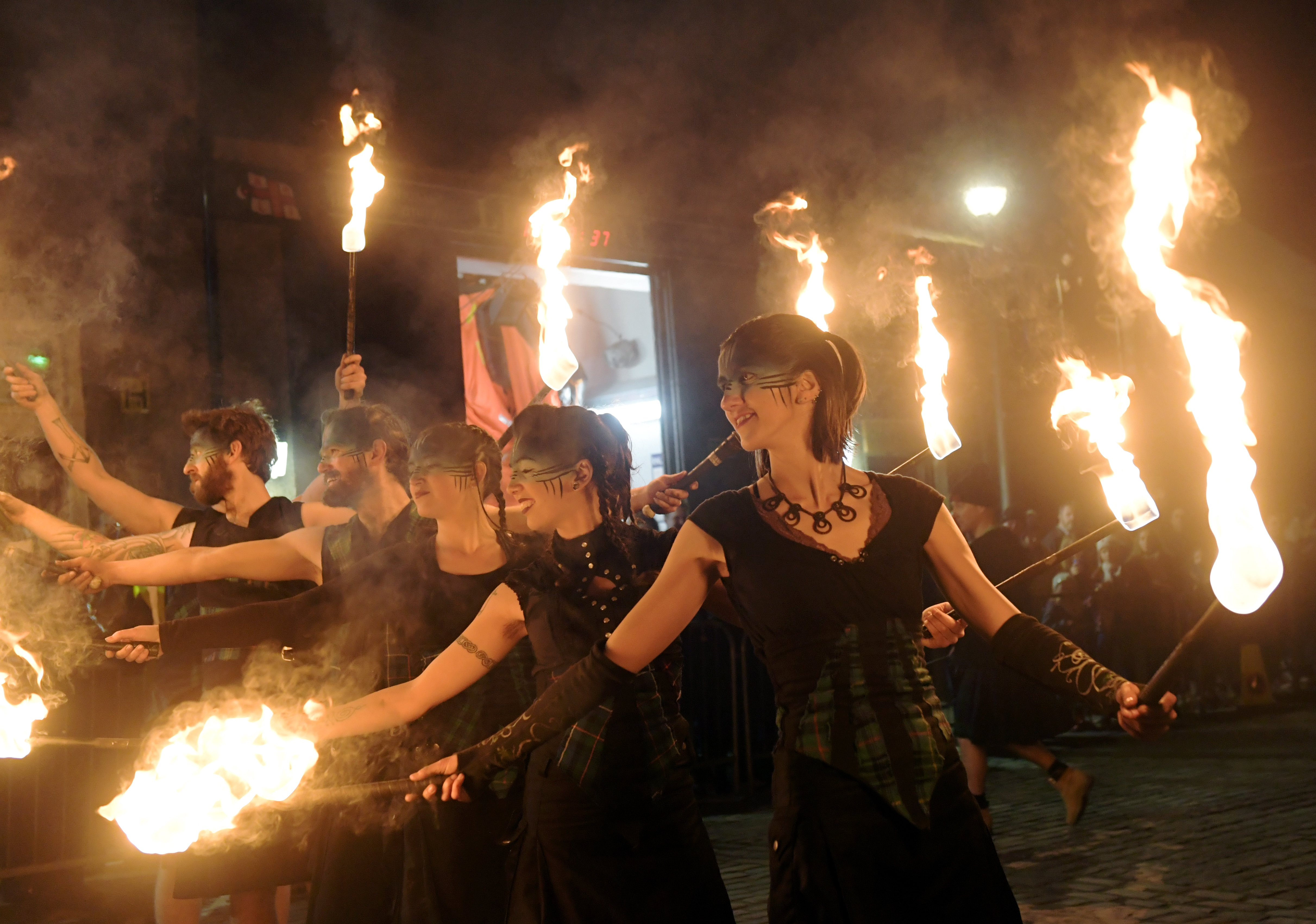PyroCeltica perform their fire show.