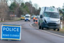 The scene of the fatal crash in Forres