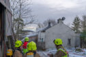 This is the scene of the fire at the Farm Cottage Fire near Newmill, Moray, Scotland. Photographed by JASPERIMAGE ©