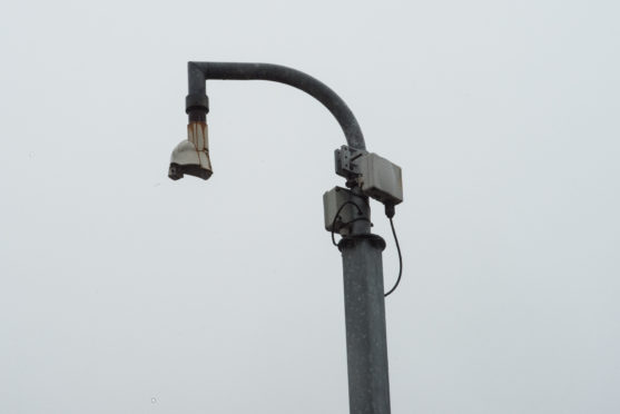 The CCTV camera at Keith's Regent Square has been removed for repairs.