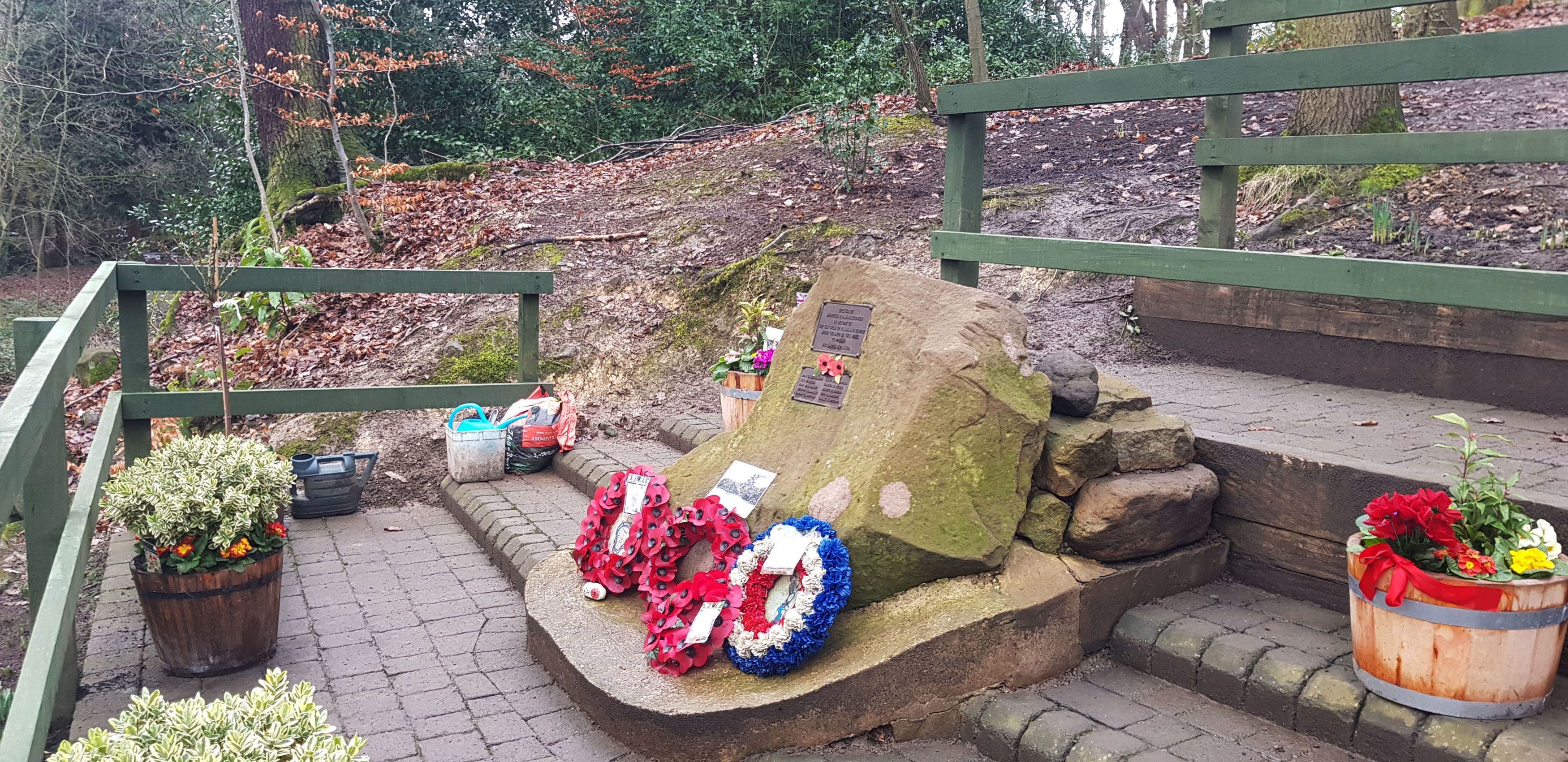 A memorial to 10 WW2 airmen in Endcliffe Park, Sheffield which is looked after by 82-year-old Tony Foulds, who was told there will be a flypast to honour their memory - after a social media campaign by BBC Breakfast's Dan Walker. PRESS ASSOCIATION Photo. Picture date: Tuesday January 22, 2019. Mr Foulds was just eight when he witnessed the B-17 Flying Fortress, the American plane which was carrying the men, crash in the park on February 22 1944, killing all 10 of them. See PA story MEMORIAL Flypast. Photo credit should read: Dave Higgens/PA Wire