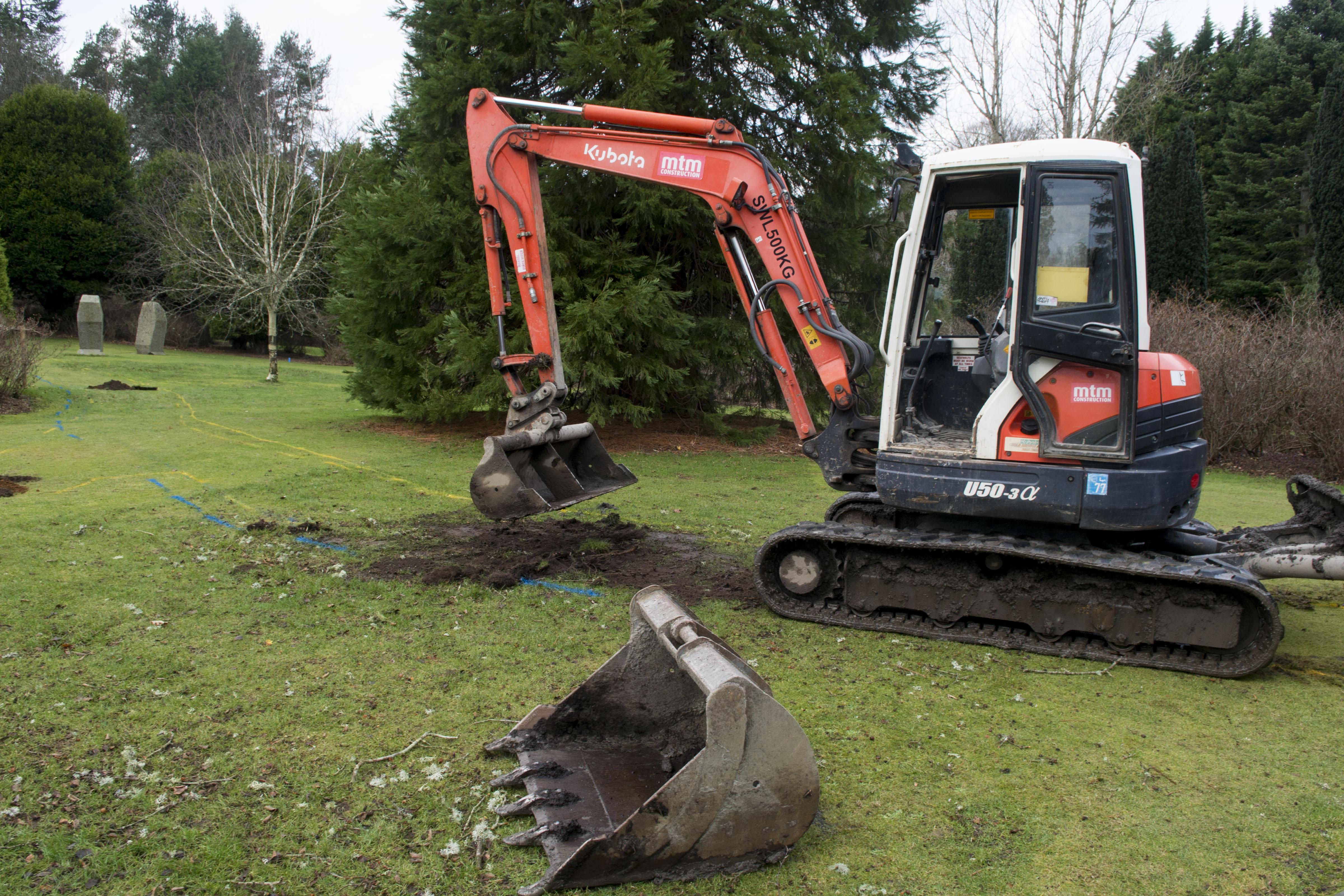 10/01/19-Hazlehead Park, work start on site of new baby memorial area