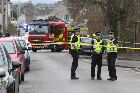 Merkinch Primary School in Inverness was evacuated following reports of a gas leak.
