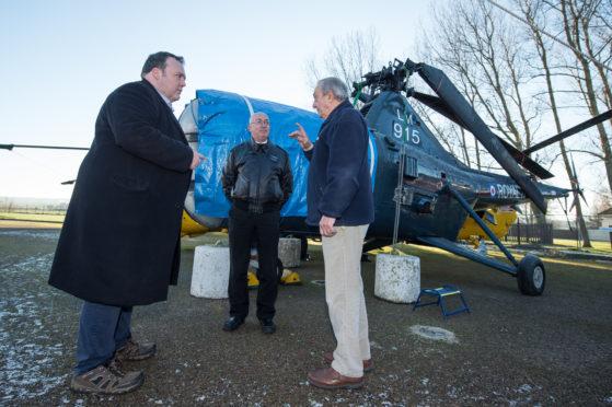 Highlands and Islands MSP Jamie Halcro Johnston with Morayvia directors Marc Macrae and Bob Pountney.