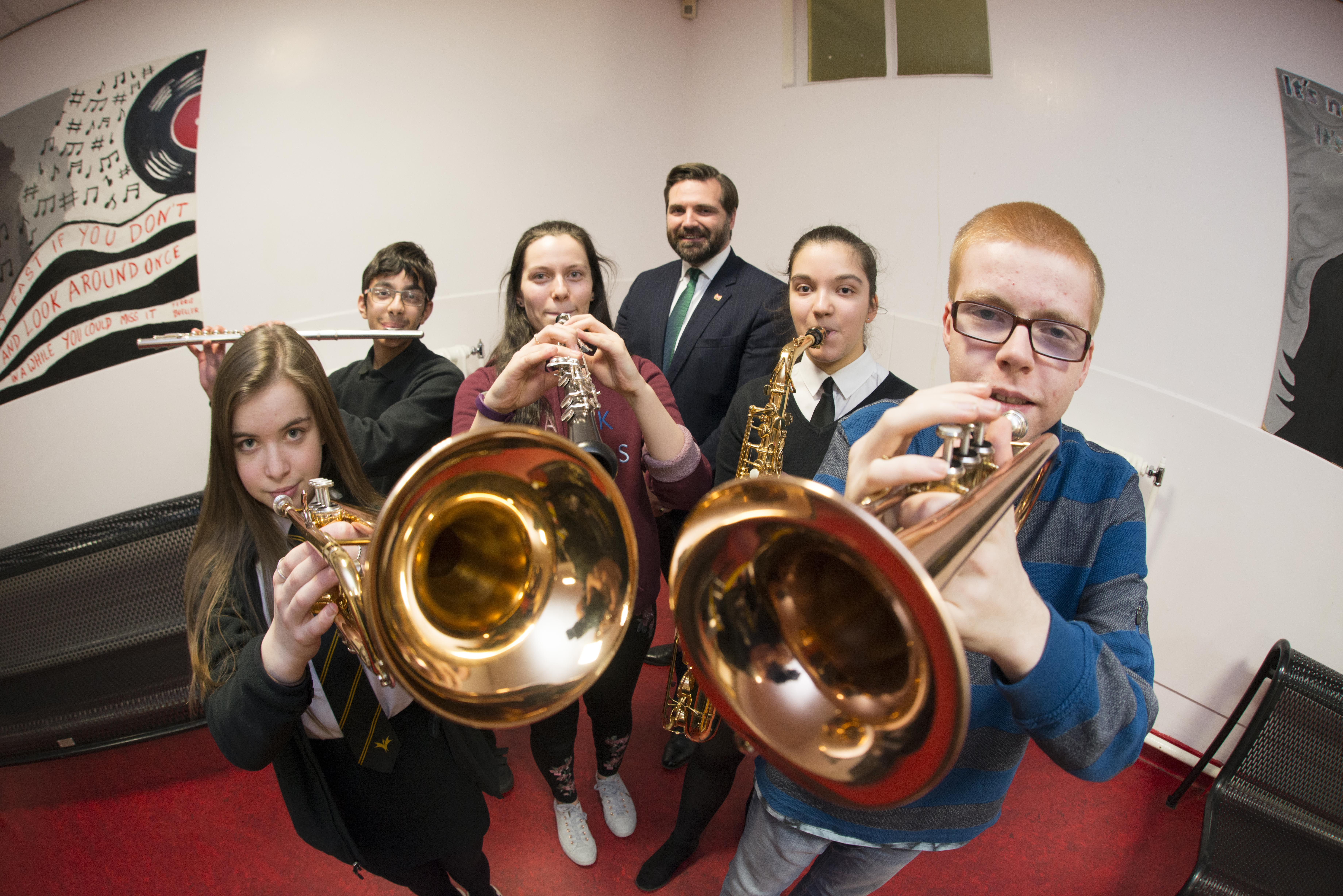 The musical youth with education convener John Wheeler