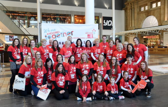 Friends of ANCHOR fundraising team at Union Square, Aberdeen.