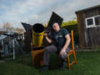 Pete Sherman from Fochabers has converted his shed into a star gazing observatory.
