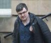 Christopher Blakesly leaving Elgin Sheriff Court